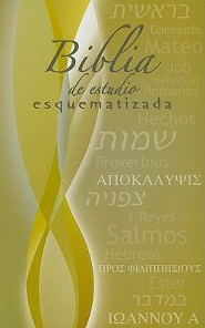 Biblia Estudio de Esquematizada-RV 1960, Paper Over Board, Multi-Colored