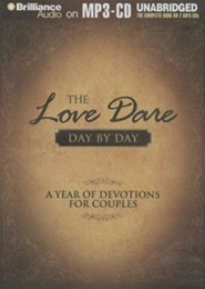 The Love Dare Day by Day: A Year of Devotions for Couples Unabridged Audiobook on MP3  -     By: Stephen Kendrick, Alex Kendrick
