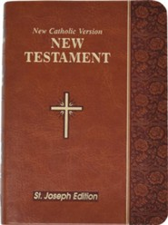 New Testament: Catholic Version Bonded Leather Brown