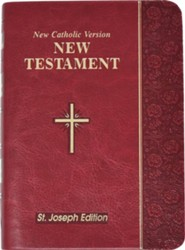 New Testament: New Catholic Version Bonded Leather  Burgundy