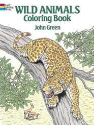 Wild Animals Coloring Book  -     By: John Green