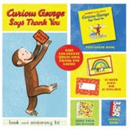 Curious George Says Thank You Book and Stationery Kit  -     By: H.A. Rey