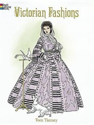 Victorian Fashions Coloring Book  -     