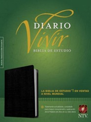NTV Biblia de estudio del diario vivir, Piel fab negro, NTV Life Application Study Bible--bonded leather, black (indexed)