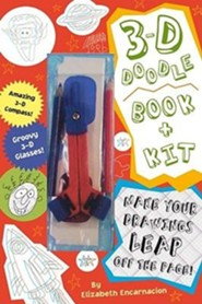 3-D Doodle Book & Kit [With 3-D Compass and 2 Colored Pencils and 3-D Glasses]