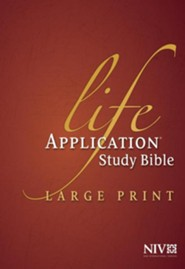 NIV Life Application Study Bible NIV Large Print, Hardcover Indexed  -