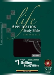 NLT Life Application Study Bible, Personal Size TuTone Black Celtic Cross Indexed Leatherlike