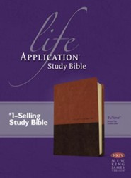 NKJV Life Application Study Bible, TuTone Leatherlike Brown/Tan Indexed