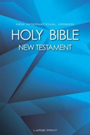 NIV Large-Print New Testament--softcover, graphic