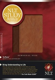 NLT Study Bible Personal Size TuTone Brown/Tan  Leatherlike, Indexed  -