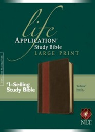 NLT Life Application Study Bible, Large Print TuTone Leatherlike Brown/Tan