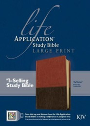 Life Application Study Bible KJV large print brown & tan  -