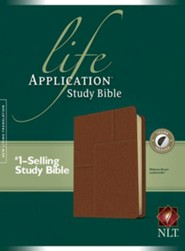 NLT Life Application Study Bible, soft imitation leather, midtown brown with thumb index