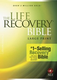 NLT Life Recovery Bible, Large Print, Hardcover  - Imperfectly Imprinted Bibles
