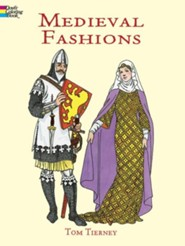 Medieval Fashions Coloring Book - Slightly Imperfect