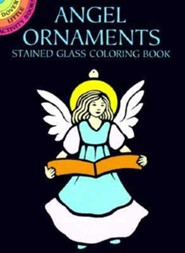 Angel Ornaments Stained Glass Coloring Book