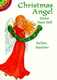Christmas Angel Sticker Paper Doll  -     By: Barbara Steadman
