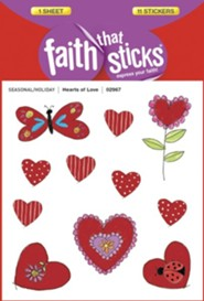 Hearts of Love Puffy Stickers