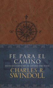 Fe para el camino, Faith for the Journey--soft leather-look, brown with compass design