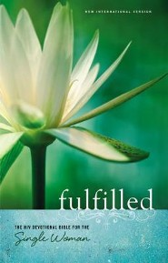 Fulfilled: The NIV Devotional Bible for the Single Woman Hardcover, Black  -