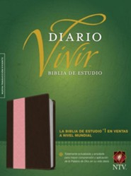 NTV: Biblia de estudio del diario vivir, NTV Life Application Study Bible--soft leather-look, pink/brown (indexed)