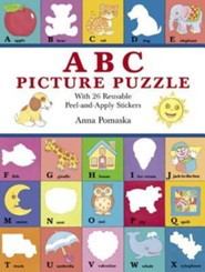 ABC Picture Puzzle: With 26 Reusable Peel-And-Apply Stickers  -     By: Anna Pomaska