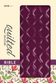 NIV Quilted Collection Bible, Italian Duo-Tone, Plum  -     By: Zondervan