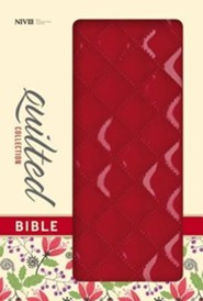 NIV Quilted Collection Bible, Italian Duo-Tone, Cherry  -     By: Zondervan