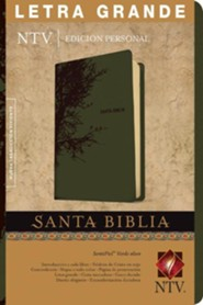 NTV Santa Biblia edicion personal letra grande, , NTV Personal Size Large Print Bible, Imitation Leather with Thumb Index, Olive Green