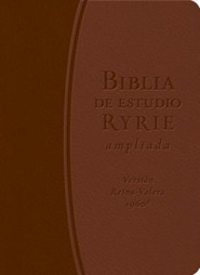 Biblia de Estudio Ryrie Ampliada-Rvr 1960, Imitation Leather, Brown/Light Brown, Thumb Index