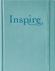 NLT Inspire Bible: The Bible for Creative Journaling, Hardcover Tranquil Blue Leatherlike