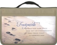 Footprints Canvas Cover Large  -     By: Zondervan