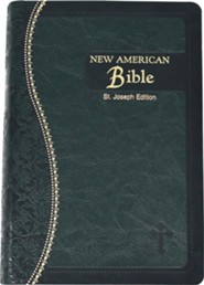 NAB Saint Joseph Bible-Medium Size, Imitation Leather, Green