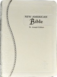 Saint Joseph Medium Size Gift Bible-NABRE, Leather, Cream