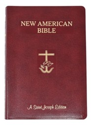 Saint Joseph Giant Print Bible-NABRE New American Bi Edition, Bonded Leather, Burgundy  -     By: Confraternity of Christian Doctrine