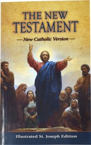 Saint Joseph Pocket New Testament, Paper, Orange