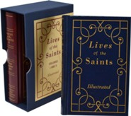 Lives of the Saints, 2 volume boxed set, Large Print edition