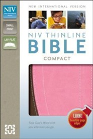 NIV Thinline Bible Compact, Italian Duo-Tone, Chocolate/Pink  -     By: Zondervan