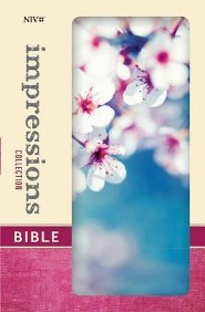 NIV Impressions Collection Bible, Hardcover, Padded, Cherry Blossom  -