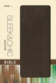 NIV Sleek and Chic Collection Bible, Flexcover, Mocha Blast