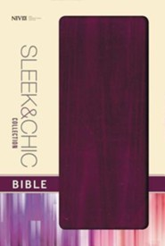 NIV Sleek and Chic Collection Bible, Flexcover, Plum Attraction  -     By: Zondervan