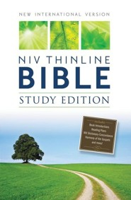 NIV Thinline Bible, Study Edition, Hardcover, Black