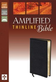 Amplified Thinline Bible, Black