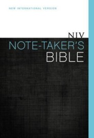 NIV Note Taker's Bible, Hardcover, Dust Jacket   -     By: Zondervan