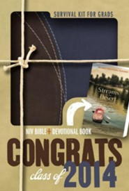 2014 Survival Kit for Grads, Boys' Edition, NIV Thinline Bible, Compact: Boys' Edition, Italian Duo-Tone - Imperfectly Imprinted Bibles  -     By: Zondervan