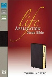 NIV Life Application Study Bible, Bonded Leather, Burgundy, Indexed  - 