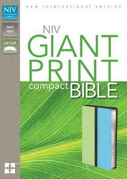 NIV Compact Bible, Giant Print, Italian Duo-Tone,   - Imperfectly Imprinted Bibles  -