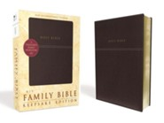 NIV Family Bible, Keepsake Edition, Padded Hardcover, Burgundy  -