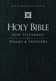 NIV New Testament with Psalms and Proverbs, Leather-Look, Black  -