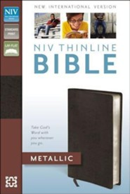NIV Thinline Metallic Collection Bible, Bonded Leather, Bronze